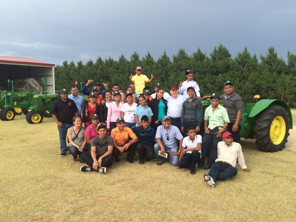 SAT students visit cotton farm in Texas.