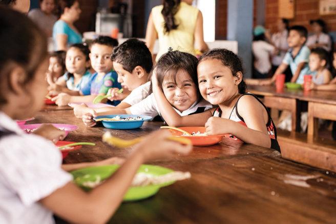 school lunch at fabretto center
