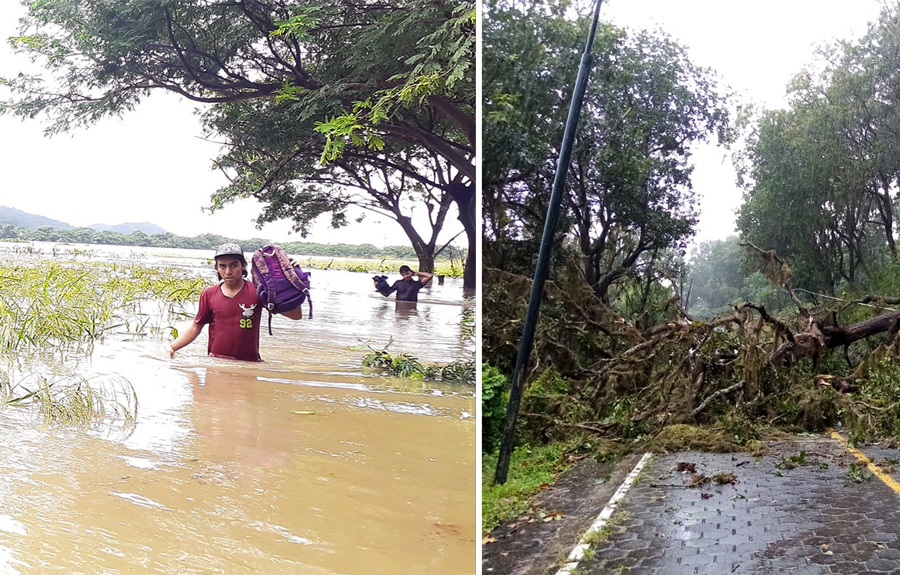 hurricane damage in nicaragua
