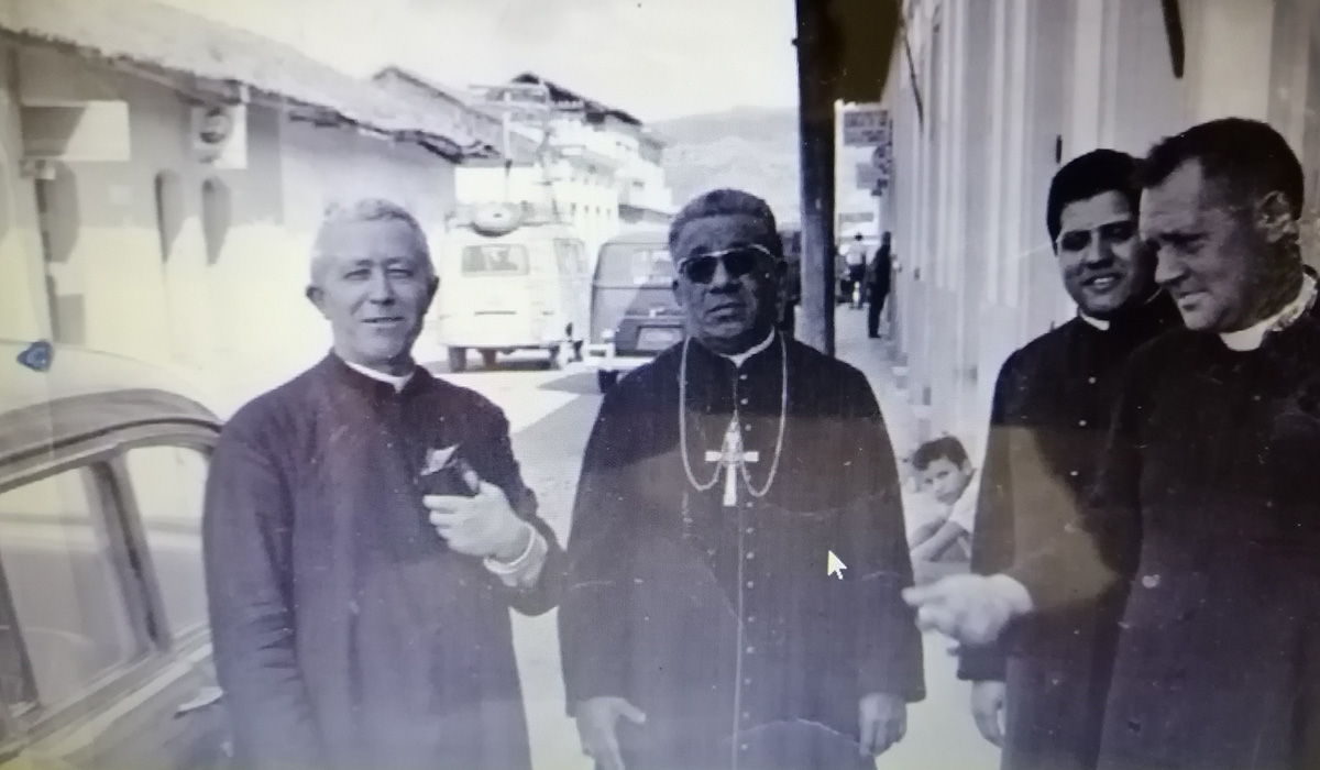Father Fabretto with other priests in Esteli.